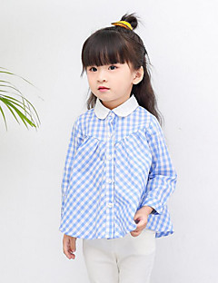 Girl Casual/Daily Holiday Plaid Shirt,Cotton Spring Long Sleeve