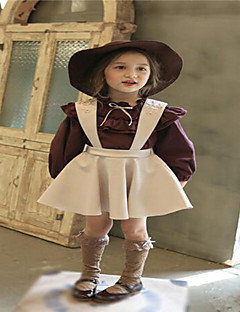 Girl's Going out Solid Overall & Jumpsuit / Clothing SetCotton Spring / Fall Red / Beige