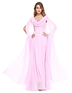 Ball Gown Mother of the Bride Dress Floor-length Chiffon with Beading