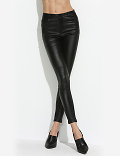 Women PU Pants,Lined