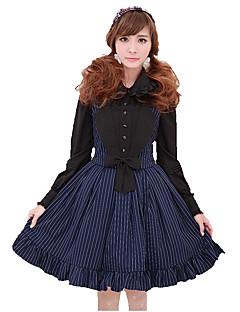 Skirt Sweet Lolita Cosplay Lolita Dress Wine Red Ink Blue Striped Sleeveless Skirt For Terylene Polyester