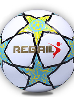 Soccers Piłka nożna-Wysoka elastyczność Trwały(Biały Niebieski,PU)