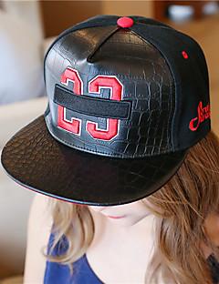 ユニセックス コットン 人造皮 ベースボールキャップ 日よけ帽,カジュアル 夏 オールシーズン