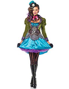 Cosplay Kostuums Sprookje Festival/Feestdagen Halloweenkostuums Groen Patchwork Kleding Das Handschoenen HoofddekselsHalloween Carnaval