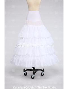 Slips Ball Gown Slip Floor-length 4 Taffeta Satin White Black Red