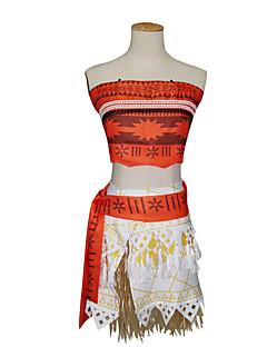 Kostiumy Cosplay Księżniczka Bajkowe Festiwal/Święto Kostiumy na Halloween Biały Jendolity kolor Top Spódnica PasHalloween Karnawał Dzień