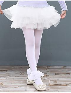 בלט חלקים תחתונים בגדי ריקוד ילדים אימון פוליאסטר תחרה קפלים שחבור חלק 1 טבעי חצאית