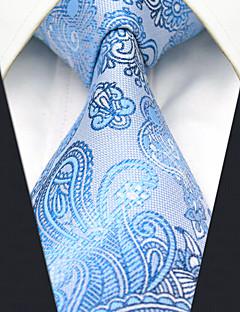 Masculino Gravata Azul,Vintage Fofo Festa Trabalho Casual Paisley Seda Todas as Estações