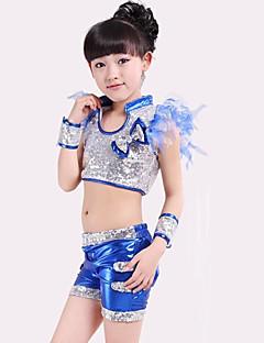 Devemos vestir roupas de jazz para crianças arco (s) lantejoulas 4 peças