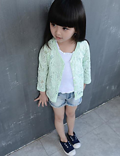 Girl Casual/Daily Solid Blouse,Polyester Summer Long Sleeve Regular