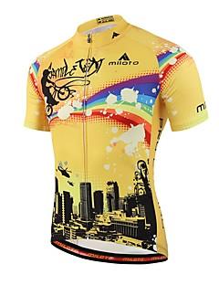 חולצת ג'רסי לרכיבה יוניסקס שרוול קצר אופניים חומרים קלים תומך זיעה ג'רזי Coolmax אביב קיץ סתיו רכיבה על אופניים/אופנייים