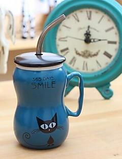 Zeichentrick Trinkbecher, 500 ml Dekoration Keramik Saft Gläser und Tassen für den täglichen Gebrauch