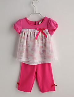 bébé Fille Décontracté / Quotidien Couleur Pleine Ensemble de Vêtements Eté
