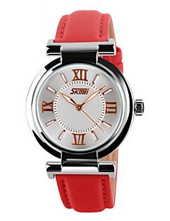 Heren Dames Uniseks Sporthorloge Dress horloge Skeleton horloge Modieus horloge Polshorloge Kwarts Echt leer BandBedeltjes