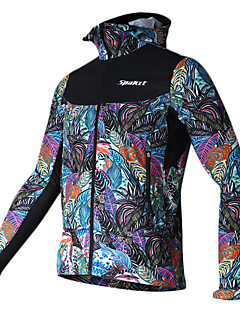SPAKCT® Cycling Jacket Men's Long Sleeve Bike Quick Dry Windproof Jersey 100% Polyester Floral / Botanical Fall/Autumn Winter Cycling/Bike