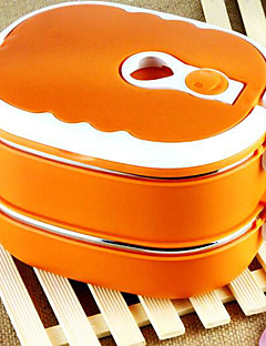 2-Schicht Edelstahl Isolierbox Lunchbox mit Griff (zufällige Farbe)
