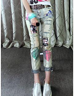 estações Europeu da Primavera parágrafo corpo de moda bronzeamento não esticar denim