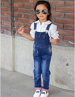 Girls' Going out Casual/Daily Solid Overall & Jumpsuit-Cotton Spring
