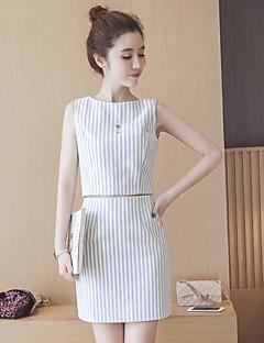 merkki 2016 Korean ol temperamentti naisten pieni tuoksuvia tuuli raidallinen lyhythihainen paita sana hame puku kaksi