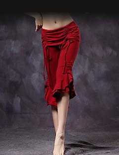 ריקוד בטן חלקים תחתונים בגדי ריקוד נשים אימון כותנה שכבות מדורגות עטוף חלק 1 נפול מכנסיים