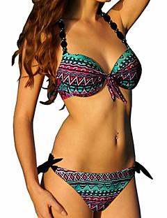 Kvinner Prikket Grime Bikinikjole Polyester Spandex