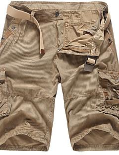 Herre Vintage Enkel Søt Uelastisk Shorts Bukser,Løstsittende Mellomhøyt liv Stripet
