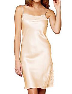 여성 새틴 & 실크 잠옷,섹시 솔리드-여성의 중간 면