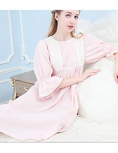 Kombiné Noční prádlo Krajka Jednobarevné-Bavlna Střední Dámské