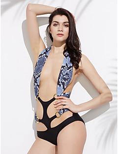 Nais- Polyesteri Yksivärinen Bikini, Bandeau