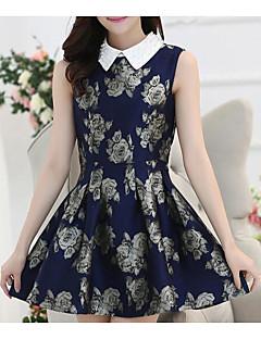 2017 new jacquard dress sleeveless dress Slim female Korean long section of blouses