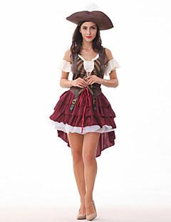 תחפושות קוספליי פיראט פסטיבל/חג תחפושות ליל כל הקדושים אחיד שמלה כובע האלווין (ליל כל הקדושים) קרנבל יום הילד ראש השנה נקבה טרילן