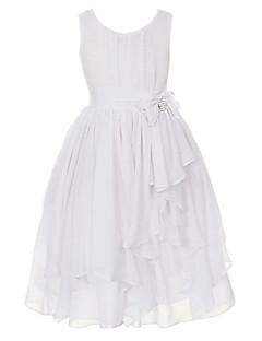 Mädchen Kleid einfarbig Patchwork Baumwolle Polyester Sommer Ärmellos