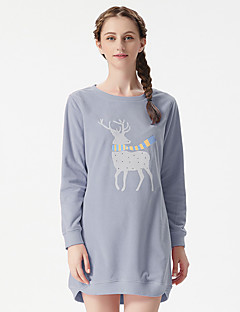 Dámské Kostýmy Noční prádlo Retro Jednobarevné-Polyester Umělé hedvábí Střední Dámské