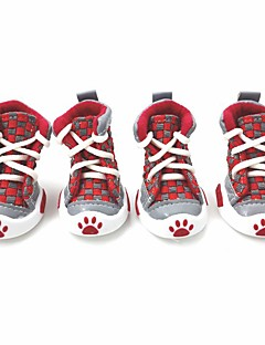Dog Shoes & Boots Sports Fashion Plaid/Check Cotton PU Leather