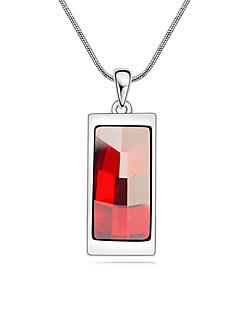 Pentru femei Coliere cu Pandativ Cristal Design Basic Mov Galben Rosu Bijuterii Pentru 1 buc