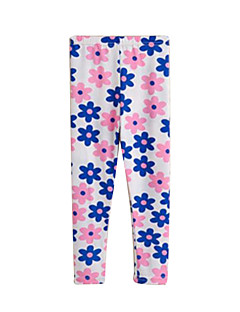 Girls' Casual/Daily Print Pants-Cotton Spring