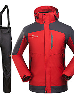 לגברים מעילי 3 ב 1 סקי מחנאות וטיולים ציד ספורט שלג סנואובורדעמיד למים נושם שמור על חום הגוף עמיד בטנת פליז מוגן מגשם לביש כובע ניתק נוח