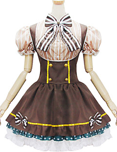 תלבושות לוליטה מתוקה לוליטה Cosplay שמלות לוליטה אחיד שרוולים קצרים קצר / מיני ל