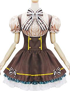Roupa Doce Lolita Cosplay Vestidos Lolita Cor Única Manga Curta Short / Mini Para