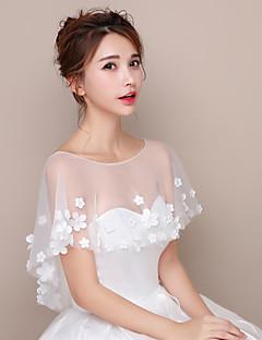 כיסויי גוף לנשים צעיפים טול חתונה מסיבה / ערב קצה פרחוני