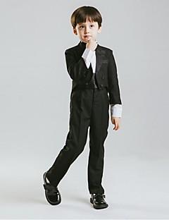 Baumwolle Ring-Träger Anzug - 5 Stücke Enthält Jacket Hose Schärpe Hemd Fliege
