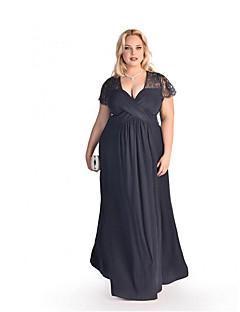 080558c28e0f8 Kadın Dışarı Çıkma Parti/Kokteyl Sokak Şıklığı Çan Elbise Solid,Kısa Kollu  V Yaka