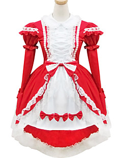 의상 달콤한 로리타 로리타 코스프레 로리타 드레스 솔리드 짧은 소매 짧은 / 미니 에 대한