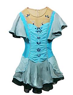 Luistelumekot Naisten Puolihiha Luistelu Erittäin elastinen Taitoluistelun Dress Pidä lämpimänä Hengittävä Käsintehty Paljettipintainen