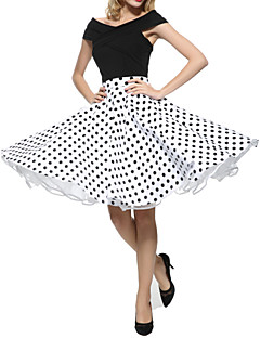 Maggie Tang 50s Retro VTG Pinup Rockabilly Swing Polka Dot Skirt 575