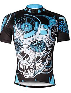 Camisa para Ciclismo Homens Manga Curta Moto Camisa/Roupas Para Esporte Blusas Secagem Rápida Resistente Raios Ultravioleta Respirável