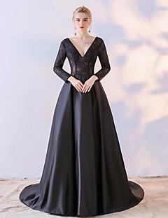 Vestido de bola mãe do vestido da noiva n / a longo chiffon chiffon rendas laço com rendas