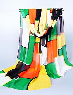レディース 春 夏 秋 冬 オールシーズン キュート カジュアル シフォン パッチワーク 長方形