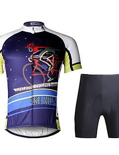 ILPALADINO Cyklodres a kraťasy Pánské Krátké rukávy Jezdit na kole Sady oblečeníRychleschnoucí Odolný vůči UV záření Prodyšné Komprese