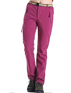 Damen Wanderhosen warm halten Rasche Trocknung Windundurchlässig Fleece Innenfutter tragbar Atmungsaktiv Schweißableitend Hosen/Regenhose